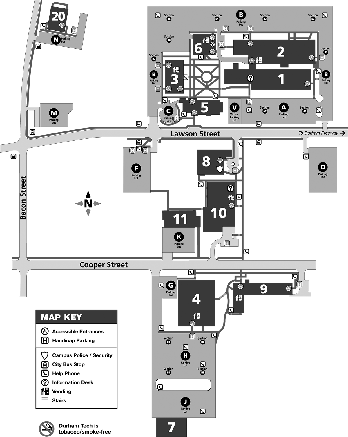 Main Campus Map | Durham Technical Community College