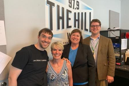 radio host and durham tech staff at wchl the hill